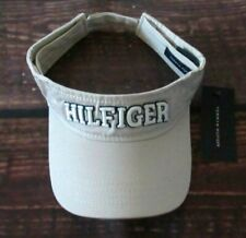 5f0368c3 MENS TOMMY HILFIGER KHAKI VISOR HAT ADJUSTABLE CAP