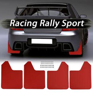 Red Mud Flaps Splash Guards Mudflap Mudguards For Subaru Impreza WRX STI Legacy