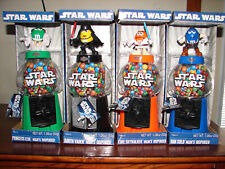 M&M Star Wars- Lot - 4 Candy Dispensers Gumball Machine Figures Bank