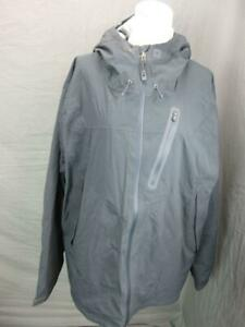 REI SIZE XL MENS GRAY FULL ZIP OUTDOOR HOODED INSULATED JACKET T023