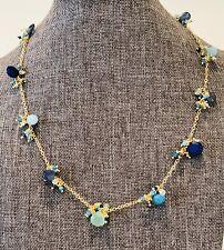 "Blue Jelly 17"" Gemstone Necklace New"