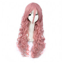 Celebrity Lolita Long Hot Pink Curly curls Hair Synthetic Wigs for Women