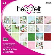 "Heartfelt Creations 12""x12"" Cardstock pack ~ WINTER'S EVE Christmas -24ct. ~281"
