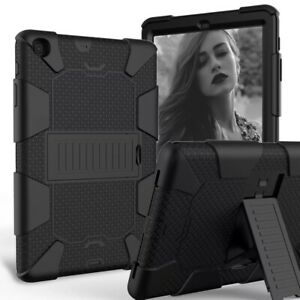 For Samsung Galaxy Tab A 8.4 SM-T307 2020 Heavy Duty Rugged Stand Case Cover BK