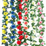 2X 8Ft Artificial Rose Garland Silk Flower Hanging Vine Ivy Wedding Floral Decor