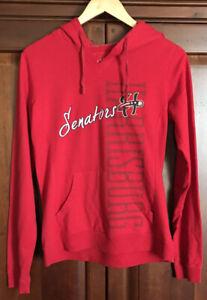 Women's Size Medium Long Sleeved Red Hooded Harrisburg senators Sweatshirt