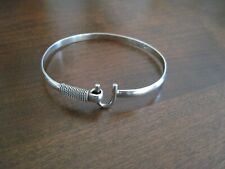 .925 Sterling Silver Dainty Caribbean Hook Bracelet with Petroglyph