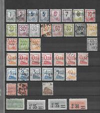 """Lot timbres """" colis postaux """" Tous différents"""