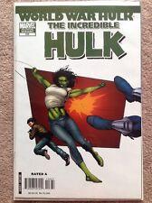WORLD WAR HULK The Incredible Hulk #106 SHE-HULK Variant THOR MOVIE Rare NM-
