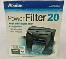 Aqueon Power Filter 20 Gallon 4-Stage Fresh Saltwater Fish Tank Aquarium Hang On