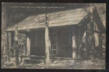 Postcard ALLENSTOWN New Hampshire/NH  Bear Hill Pond Camp Tourist Cabin 1930's