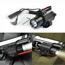 Tactical M6 Airsoft Red Laser Sight CREE LED Mounted Flashlight Torch Combo