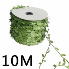 10M Olive Garland Plant Artificial Leaf Vine Fake Green Flower Wreath Home Decor