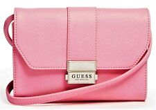 NWT GUESS JADEN HANDBAG Small Pink Logo Crossbody Shoulder Bag GENUINE