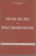S. Vajda - THEORIE DES JEUX ET PROGRAMMATION LINEAIRE - 1968