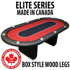 POKER TABLE SPS ELITE Red Full Bumper Table With Box Style Legs