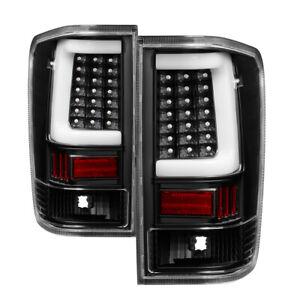 Fit Nissan 04-15 Titan Pickup Truck Black LED Tube Style Tail Brake Lights Set