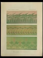 FRISES ART NOUVEAU, POCHOIR -1906- TONY SELMERSHEIM