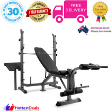Multi Functional Weight Fitness Bench Exercise Home Gym Equipment Black Everfit