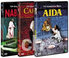 TWI Companion Opera - AIDA & CARMEN & NABUCCO OPERA SET (3Disk) DVD NEW