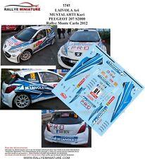 DECALS 1/43 REF 1741 PEUGEOT 207 S2000 LAIVOLA RALLYE MONTE CARLO 2012 RALLY WRC