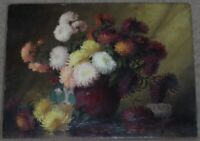 ARTIST SIGNED ORIGINAL OIL PAINTING OF FLOWER VASE