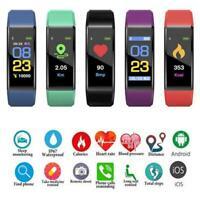 Bluetooth Smart Sport Bracelet Wristband Watch HeartRate Blood Pressure Monitor
