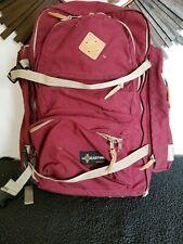 Vintage Eastpak europa Made In Usa Backpack red Leather big bag straps rare