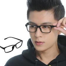 Fashion Kunststoff Brillen-Rahmen Brillengestell ohne stärke lesebrille Schwarz