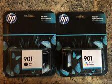 HP 901 Black Ink Cartridge & 901 Tri-color Ink Cartridge CC653AN & CC656AN