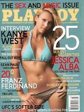 PLAYBOY MAGAZINE JESSICA ALBA MARCH 2006 INTERVIEW WITH KANYA WEST