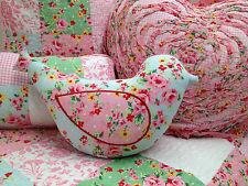 Shabby Chic Alice Vintage Floral decorator Bird Cushion