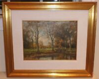 Listed Dutch Artist Willem Hendriks (1888 - 1966) Framed Oil Painting on Canvas