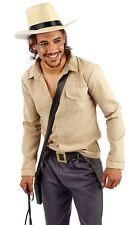 Mens Adventurer Costume Indiana Jones Movie Fancy Dress Outfit