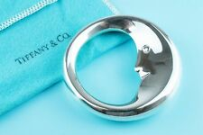 Moon Baby Teether in Pouch and Box Tiffany & Co. Sterling Silver Man in the