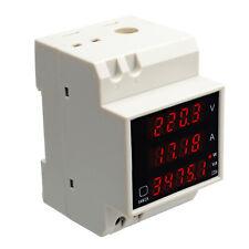 Voltage Ampere Watt Power Meter Ammeter Voltmeter 80 300v 100a Digital Led Rail