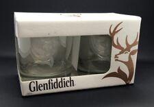 PAIR OF GLENFIDDICH WHISKY GLASSES - BNIB - WHISKEY - TWO 2 TUMBLERS