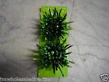 New ! 2pk Christmas Holiday Decoration Green Bows for Gifts Birthday Party