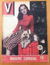 ► V MAGAZINE N°176 - 1948 - WANDA HENDRIX - JEAN FRED MELE - TILDA TAMAR