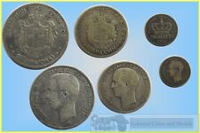 Greece : Group of 3 Coins 50 Lepta 1874, 1 and 2 Drachmai 1873