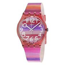 Swatch Women's Astilbe Quartz Arabic Numerals Analog Multicolor Dial Watch GP140