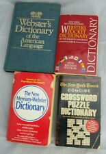 Lot Of 4 Dictionaries 3 Pocket 1 Hardcover Dictionary