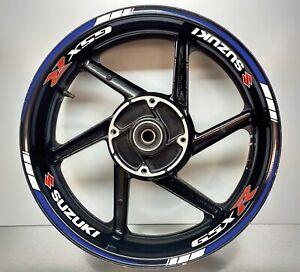 SUZUKI GSXR BLUE REFLECTIVE & White Reflective wheel Rim Sticker 025/045