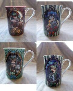 Jasmine Becket-Griffith Mugs.Strangelings Gothic Steampunk Dragon Wolf  Skull