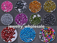 40pcs 100pcs Mixed Mottle Glass Marble Effect Round Loose Spacer Beads 6MM