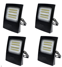 4x Flood Light LED 50 Watt 4750 Lumens Waterproof 240 Volt Exterior Flood Lights