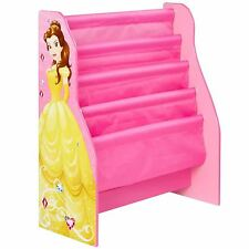 DISNEY PRINCESS SLING BOOKCASE KIDS GIRLS STORAGE EASY TO ASSEMBLE