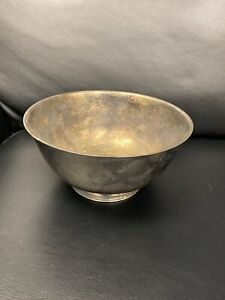 "Sons Of Liberty 8"" Bowl Paul Revere Reproduction Oneida Silversmiths Super Rare!"