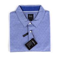 JOS A BANK Traveler Men's Blue Geo Performance Cotton Polo Shirt 2XLT ~ NWT $99