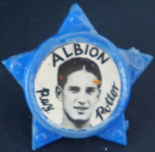 WEST BROMWICH ALBION LEGEND RAY POTTER 1958-67 STAR Badge Brooch pin 33mm x 32mm